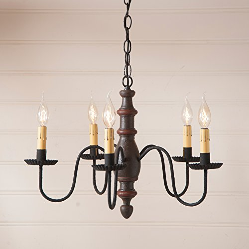 Country Inn Chandelier in Espresso with Salem (Country Vintage Inn)