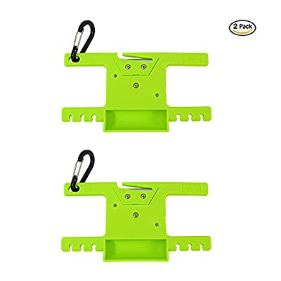 SURVIVAL Paracord Spool Tool Rope Winder 550 Paracord Keeper Parachute Cord Organizer Line Reel Multifunctional Outdoor Survaval Tool with Carabiner from SURVIVAL KOOK