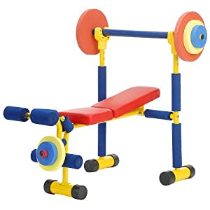 Redmon fun and fitness exercise equipment for kids weight bench set exercise Kids weight bench