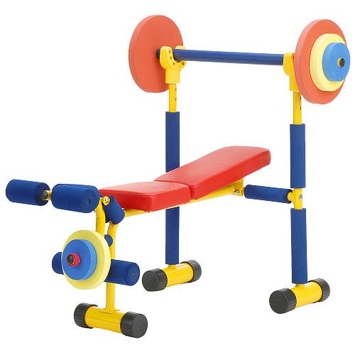Redmon fun and fitness exercise equipment for kids weight bench set shopping for your kids Kids weight bench