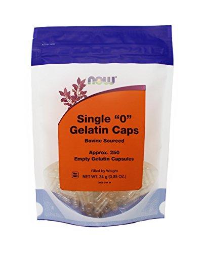 (NOW FOODS Gel Caps 0 Capsules, 250 CT)