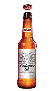 """Budweiser Apple Flavour """"Non Alcoholic """" Beer 355 ml (Pack of 1)"""