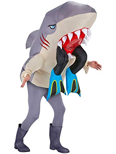 Inflatable Shark Costume - Halloween Costume for Men and Women - Funny Costumes]()