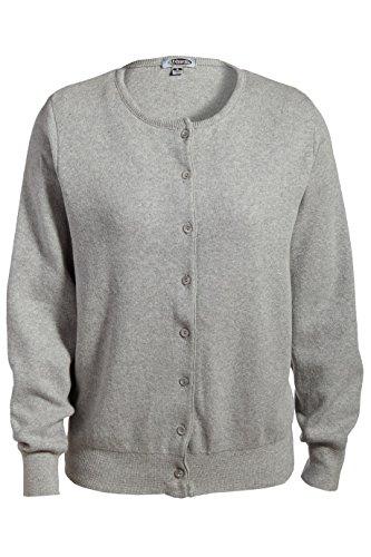 Ed Garments Women's Matching Button Jewel Neck Cardigan, HEATHER GREY, Medium