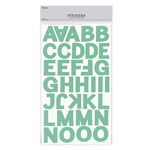Darice 30052947 Block Letter Stickers: Mint, 1.25 inches, 157 Pieces ()