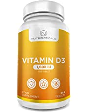 Vitamin D3 NHS Recommend Daily Amount 1000IU (25μg) per tablet 1 Year Supply (365 tablets)