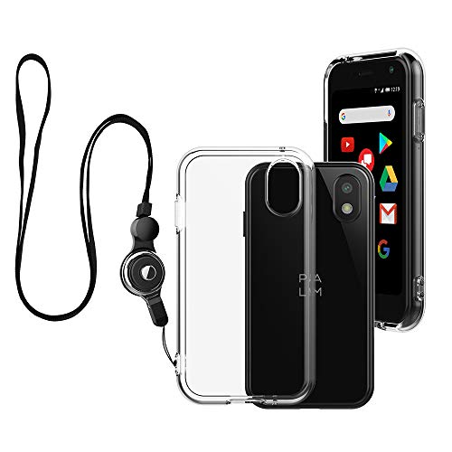 Palm Case, Palm Phone Case 2018 Clear, Foluu Scratch Resistant TPU Rubber Soft Skin Silicone Protective Case Cover with Lanyard for Verizon Palm Smartphone PVG100 (Pepito) 2018 (Crystal Clear)