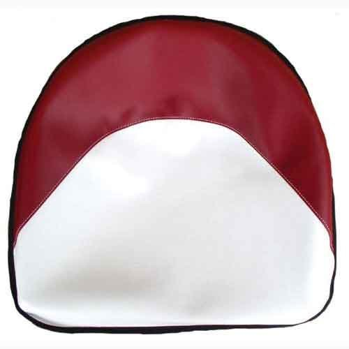 Pan Seat 19 Deluxe Cushion Vinyl Red & White Ford 2110 4140 4000 7600 5000 2610 6600 4110 3000 8N 4600 2600 4100 5600 2000 3600 International 450 460 400 M 350 300 Massey Ferguson 35 50 30 135 65 All States Ag Parts