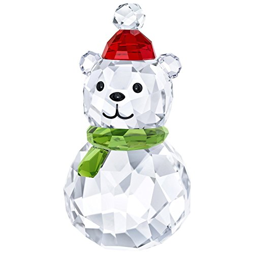 - Swarovski Rocking Polar Bear, red, Green and Clear Crystal