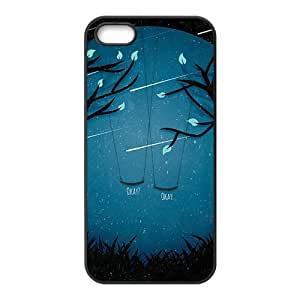 Artistic moon meteor showers and swings Cell Phone Case for iPhone 5S