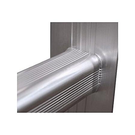 Andamio aluminio multiplataforma con dos escaleras de carril marca Pro-Steps