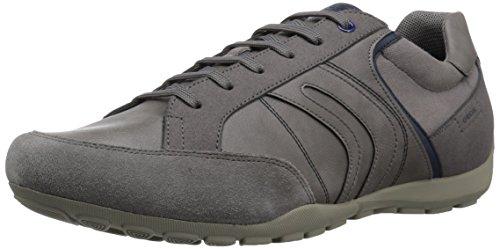 Geox Men's RAVEX 1 Sneaker, Anthracite, 41 M EU (8 US)