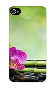 Exultantor High-quality Durability Case For Iphone 5/5s(heart Stones Candles Orchids Towels Bamboo Bokeh Mood )