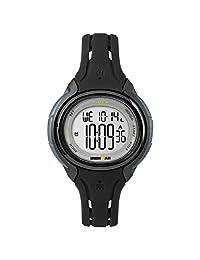 Timex Women's TW5M13700 Ironman Sleek 50 Oval Black Silicone Strap Watch