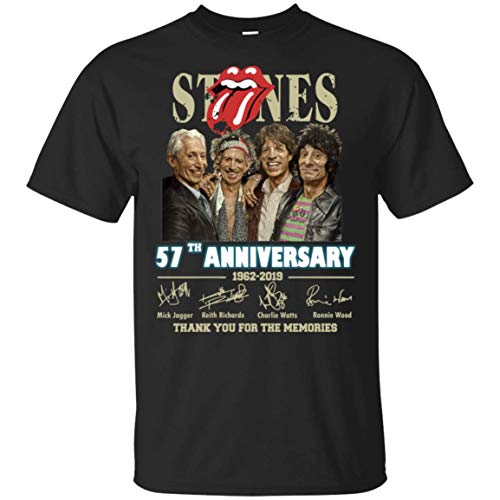 57th Anniversary The Rolling Stones T Shirt for Men idea for Fan Who Love Rolling Stones Black (Rolling Stones 1981)