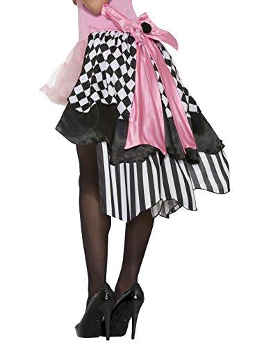 Forum Novelties, Women's Harlequin Clown Bustle Skirt Black White Argyle Adult Costume Accessory ()