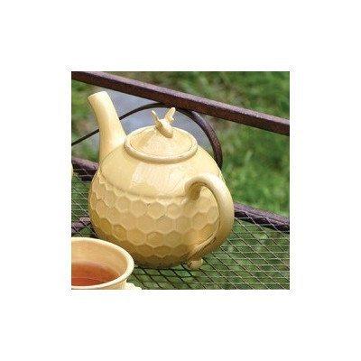 Teapot Boston - Boston International Honeycomb Ceramic Teapot, Honey by Boston International