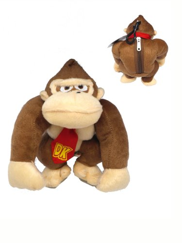 Nintendo Donkey Kong Plush Keychain - Super Mario Character Keychains