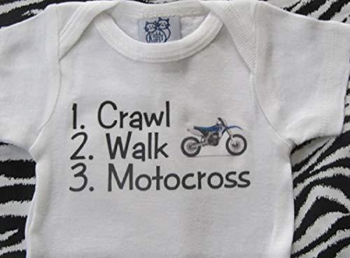 crawl walk motocross onesie future dirtbike rider infant one piece