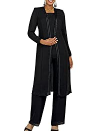 Fitty Lell Women's Chiffon 3 Piece Mother of The Bride Dress