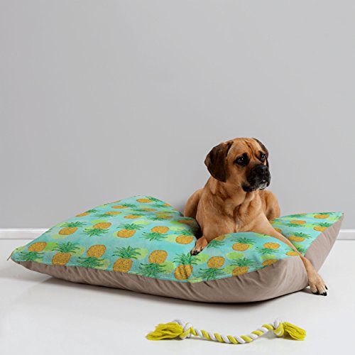 Deny Designs Lisa Argyropoulos Pineapples and Polka Dots Pet Bed, 40 by 30-Inch