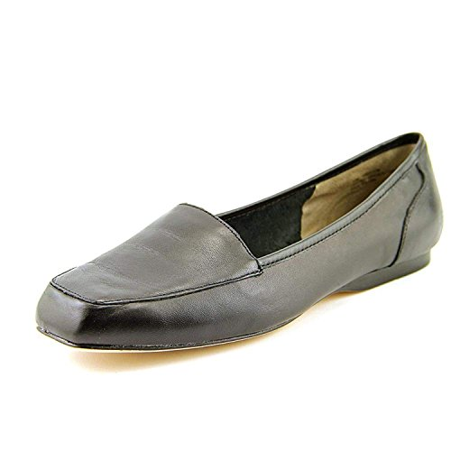 ARRAY Womens Freedom Leather Square Toe Loafers, Black, Size 8.5 (Loafers Square Toe Leather)