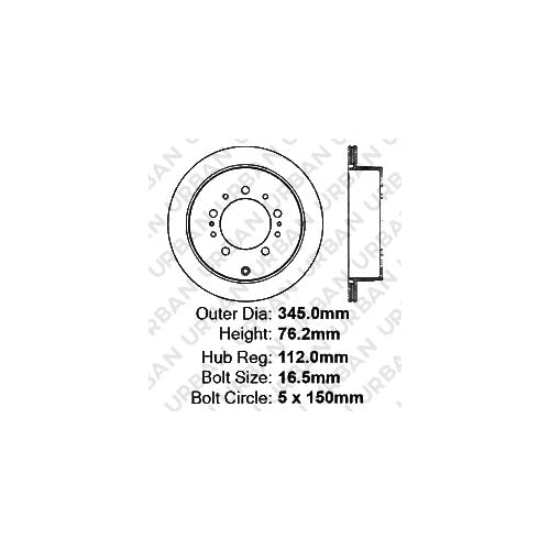 5lug SHIPS FROM USA!!-Tax Incl. 4 Semi-Met Pads -Combo Brake Kit- Front Kit 2 OEM Replacement Great-Life Premium Disc Brake Rotors