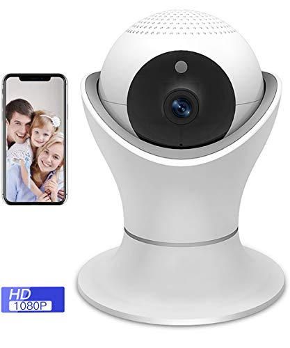 SDETER 1080P Wireless Security Camera,WiFi IP Home Indoor Surveillance System with 360° Panorama Night Vision Motion Detection Pan/Tilt/Zoom for Baby Pet ()