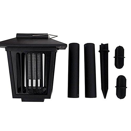 Solar-Powered Outdoor Insect Killer / Bug Zapper / Mosquito Killer- Hang or Stick in the Ground,Garden Lamp- Portable LED Machine- Best Stinger for Mosquitoes/ Moths/ Flies