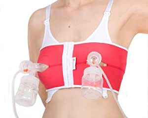 PumpEase Best for Babes hands-free pumping bra - Rhubarb - M