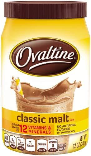 Ovaltine, Classic Malt Drink Mix (Pack of 6)