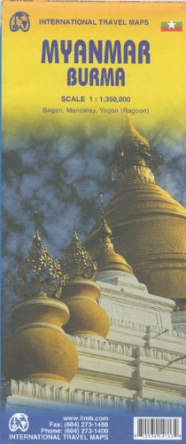 Myanmar/Burma Travel Map 1:1.35M Travel Reference Map 2013