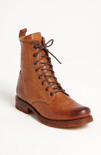 FRYE Women's Veronica Combat Boot, Black Soft Vintage