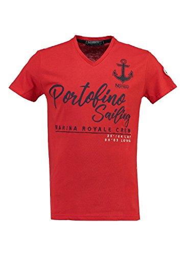 Homme Geographical Rouge Tshirt Norway Jortofino awRTR4EqS