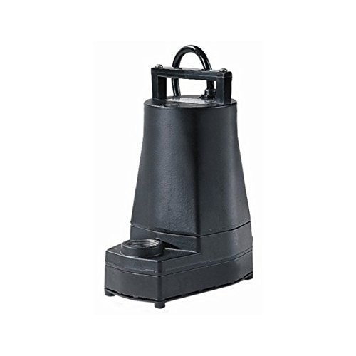 Little Giant 5-MSPR 1/6 Horsepower Permanently Lubricated Submersible Pump (5 Msp Submersible Pump)