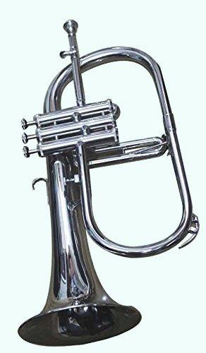 Global Art World Silver Color Chrome Flugelhorn Bb Pitch Includes case & mouthpiece Fluglehor horn MI 027