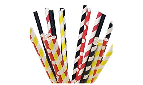 Mickey Mouse Paper Straws - Party DIY, Mason Jars, Baby Shower, Chevron and Polka Dots 125 straws]()