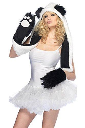 Mystiqueshapes Animal Thermal Hoodie Hood Faux FUR (Plush Panda)