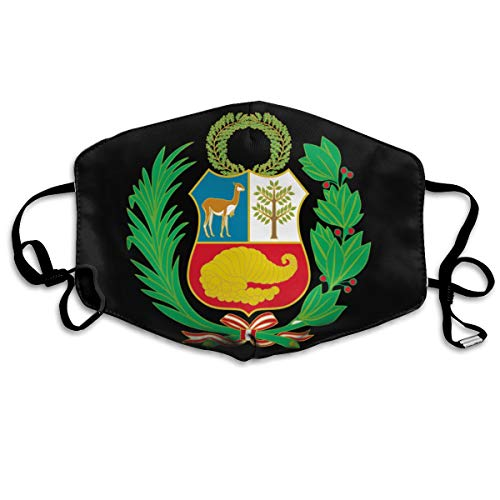 SyjTZmopre Peru Coat of Arms Mouth Mask Unisex Printed Fashion Face Anti-dust -