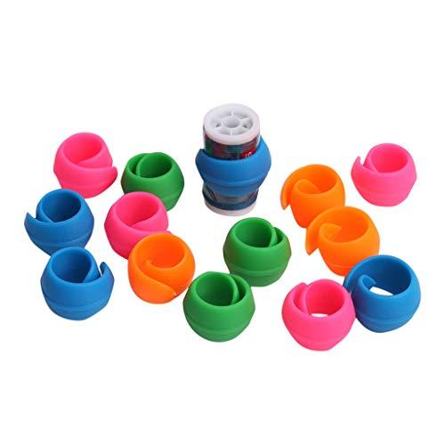 UMFun 52 Pieces Peels Thread Spool Huggers To Prevent Thread Unwinding -