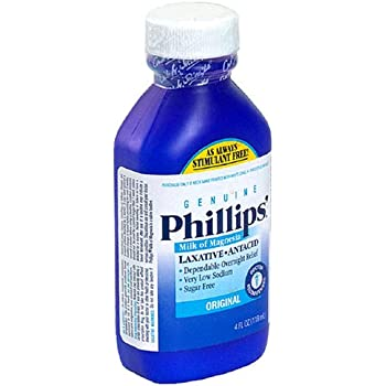 Phillips Milk of Magnesia Laxative/Antacid, Liquid, Original, 4 fl oz (118 ml) - Packaging May Vary