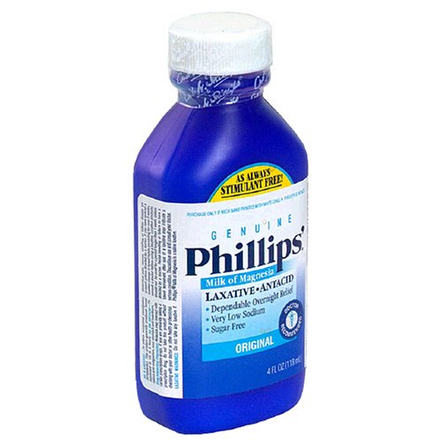 Phillips Milk of Magnesia Laxative/Antacid, Liquid, Original, 4 fl oz