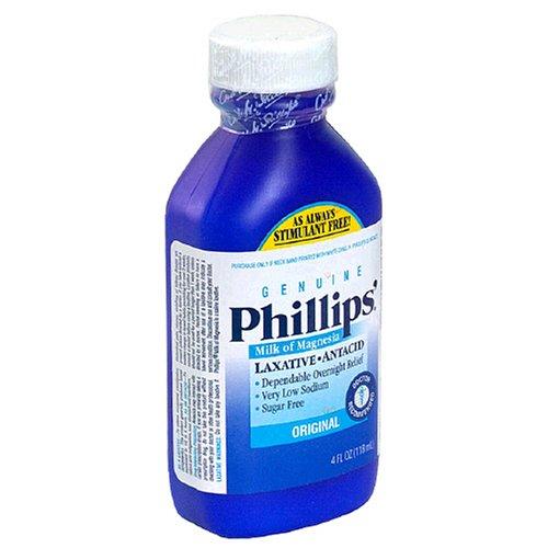 Phillips Milk of Magnesia Laxative/Antacid, Liquid, Original, 4 fl oz