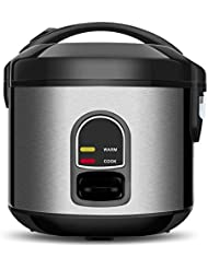 Small Electric Rice Cooker Food Steamer 5 Cup Mini Rice Maker with One Touch Control and Automatic Keep Warm Function, Perfect for Grains and Oatmeal