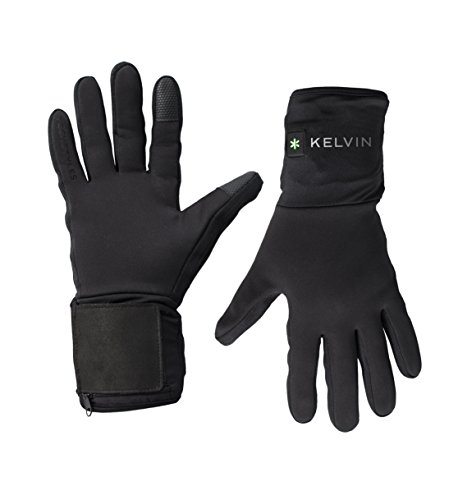 Kelvin Techstyles Addison Women's Heated Gloves with Lithium-Ion Batteries and Charger (Medium, Black)