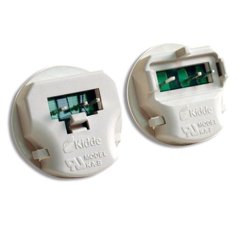 Smoke Detector Wiring (Kidde KA-B, KA-F Universal Smoke Alarm Adapters, 2 Different Units for different types of Alarms)
