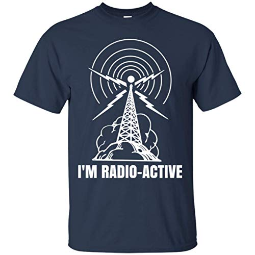 goldbabytee I'm Radio-Active Funny Ham Radio T-Shirt with Tower Antenna