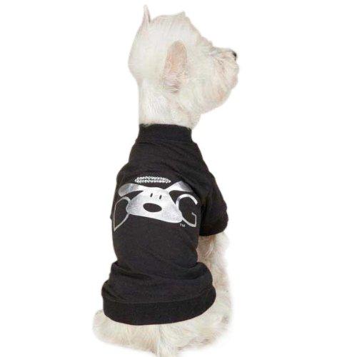 DogIsGood Halo Dog Tee, Large, Black