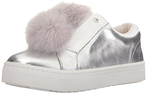 Metallic Leya Silver Leather Edelman Women's Sam Sneakers Soft xHYWw