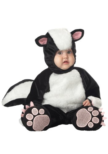InCharacter Costumes Baby's Lil' Stinker Skunk Costume, Black/White/Pink, 18-24 Months -